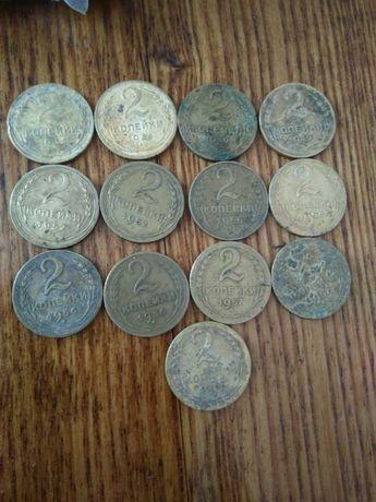 Монета 2 копейки 1936,1949,1952,1956,1957