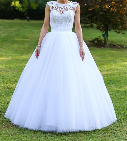 Sprzedam suknię ślubną princessa rozmiar 34-36