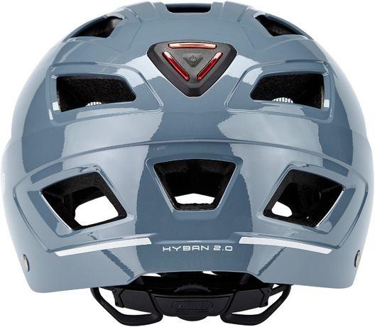 ABUS Hyban 2.0 kask M 52 58 rowerowy światło glacier blue