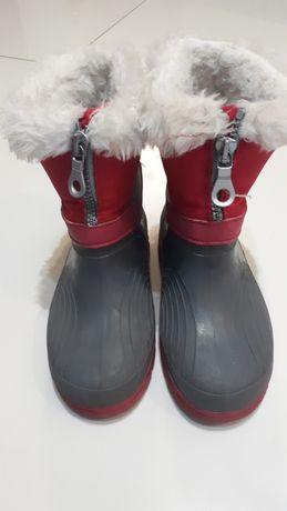 Buty zimowe dziewczęce r. 28 śniegowce