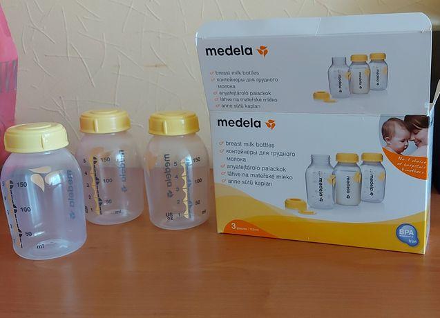 Medela бутылочки, баночки для хранения и заморозки молока,