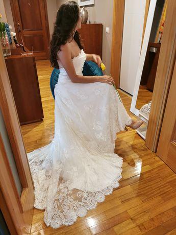 Vestido noiva usado apenas em sessao fotográfica