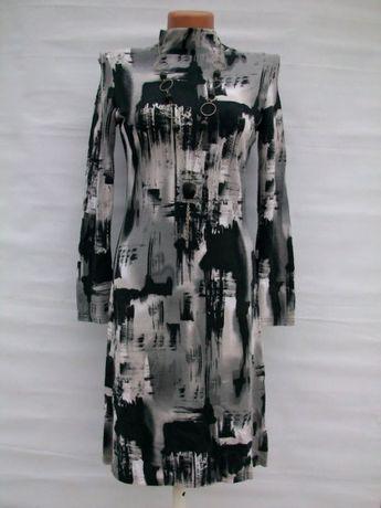 """Платье """"Газетка"""" с длинным рукавом"""