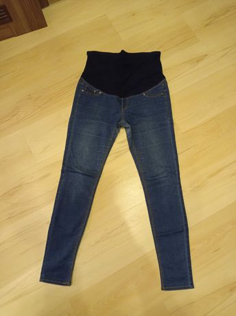 Jeansy ciążowe H&M mama r.42