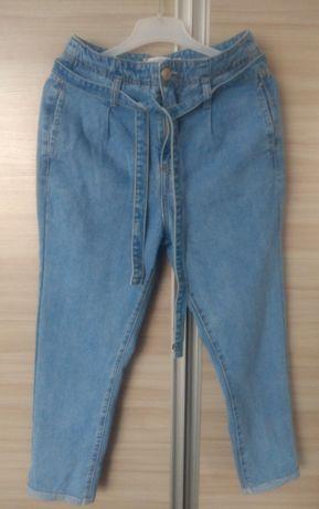 Spodnie wysoki stan wiązane M