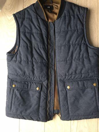 ciepła, pikowana kamizelka męska firmy H&M.  rozmiar L lub 54