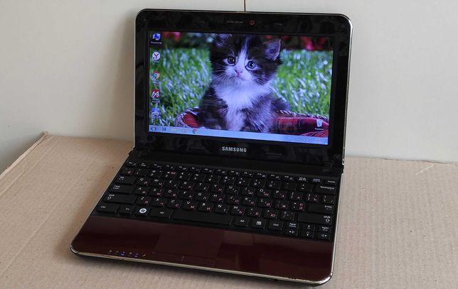 Стильный нетбук Samsung N220 Plus/2 ядра/2 ГБ/250 ГБ/батарея 1-1.5 ч.!