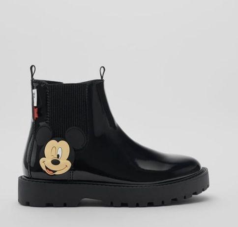 Buty lakierowane półbuty, botki wiosenne czarne Minnie Zara roz.34