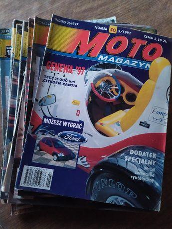 Czasopismo Moto Magazyn z lat 1996-98, zestaw 14 gazet