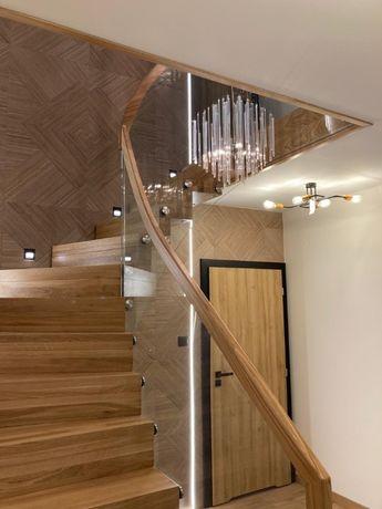 schody drewniane, dąb, jesion, balustrady
