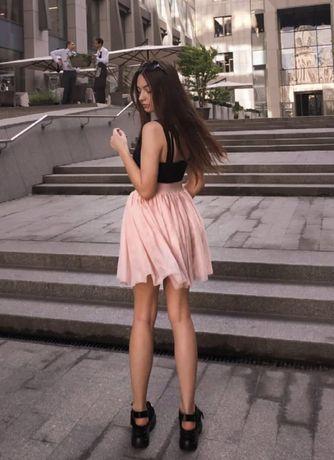 Юбка розовая