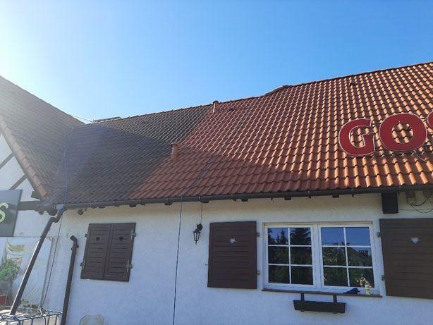 Mycie, czyszczenie, malowanie dachu, dachów, elewacji, kostki brukowej