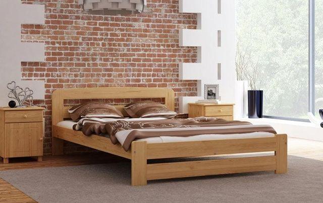Meble Magnat łóżko drewniane sosnowe Lidia 120 różne kolory wymiary