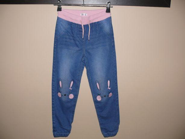 Spodnie jeans dziewczęce na gumce r. 122