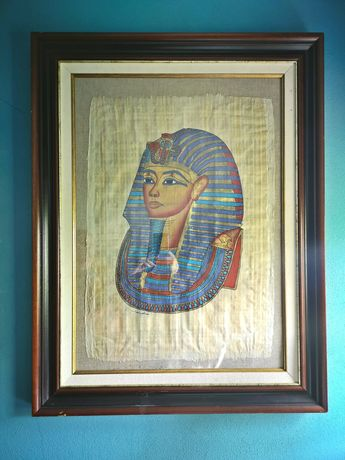 Pintura em pergaminho, Tutankhamun