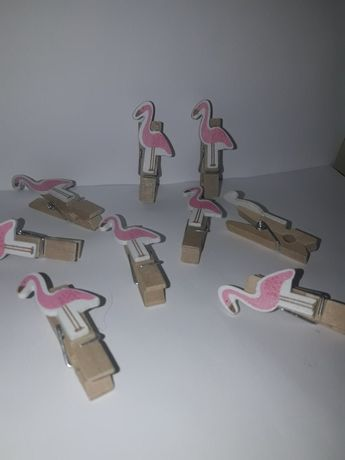 Декоративные прищепки с фламинго