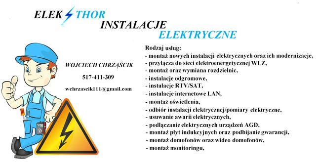 Usługi elektryczne - elektryk