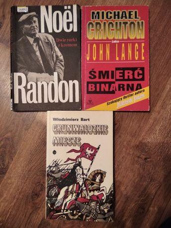 3 książki za 5 zł (Randon, Crichton, Bart)
