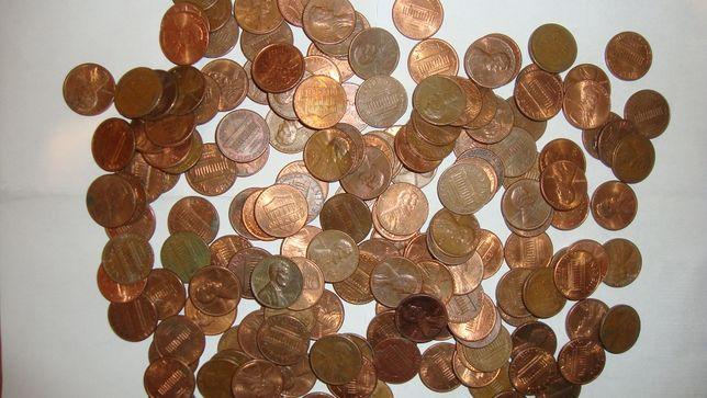 Ponad 1 kg monet 1 cent z USA różne roczniki