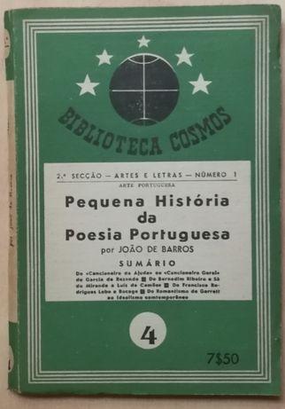 pequena história da poesia portuguesa, joão de barros, cosmos