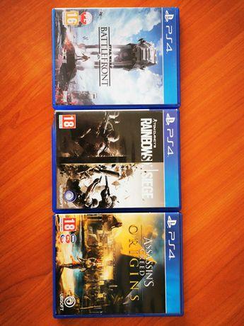 Gry PS4 Assassin's Creed Origins, Battlefront, Rainbowsix Siege