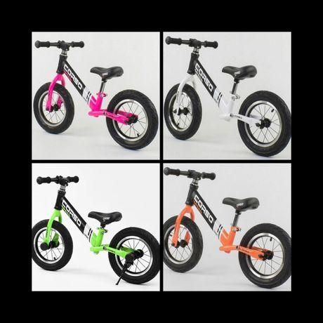 СКИДКА ! Велобег CORSO стальная рама, колесо-12, надувные колёса!