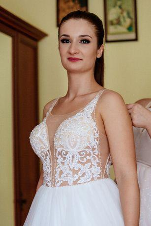 Suknia ślubna+ dwa welony