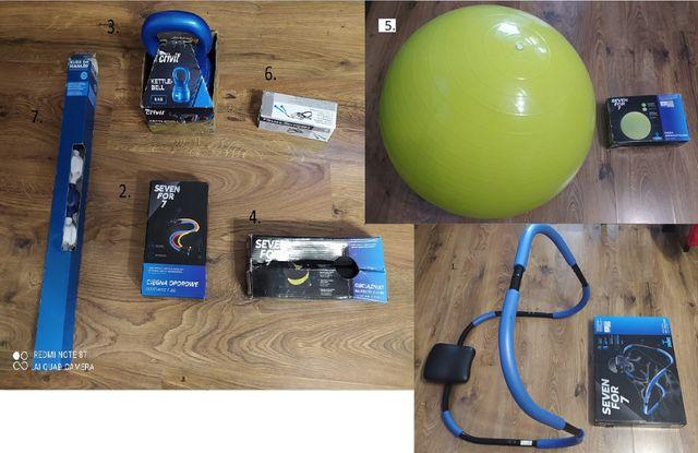 Nowy sprzęt sportowy do ćwiczeń w domu( 7 różnych sztuk ).