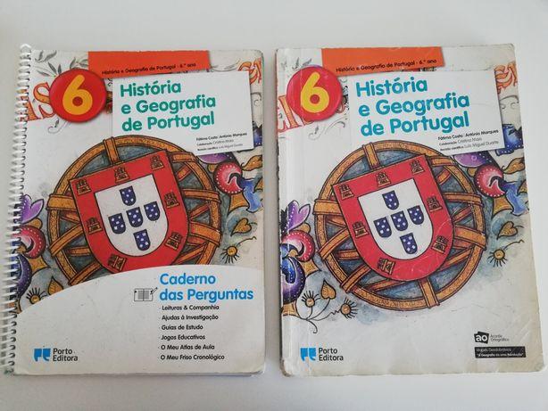 Manual + caderno de atividades de história e geografia de Portugal 6an