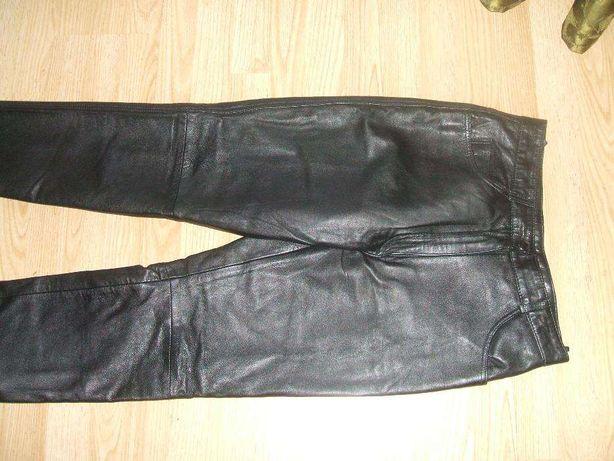 spodnie skórzane nowe czarne !78cm w pasie