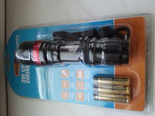 Latarka taktyczna Able&Handy 3W cree led zoom torch