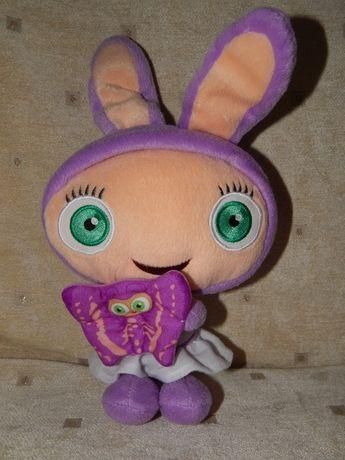 """Мягкая игрушка """"Зайка с бабочкой"""" Fisher Price 32см"""