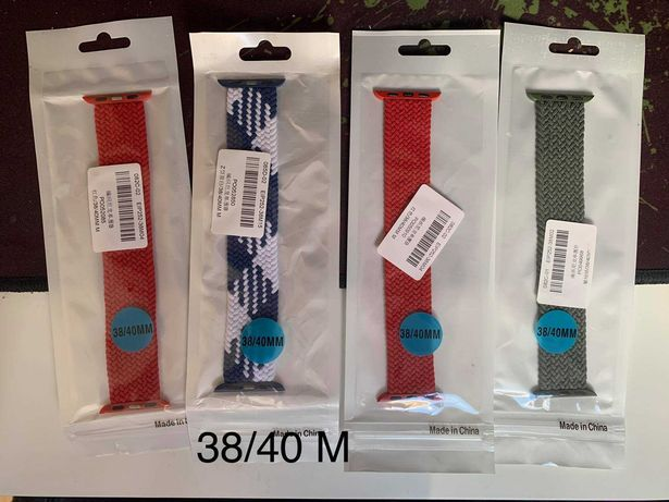 Pasek do Apple Watch 1 2 3 4 5 6 SE 38 40 mm Różne kolory Plecione