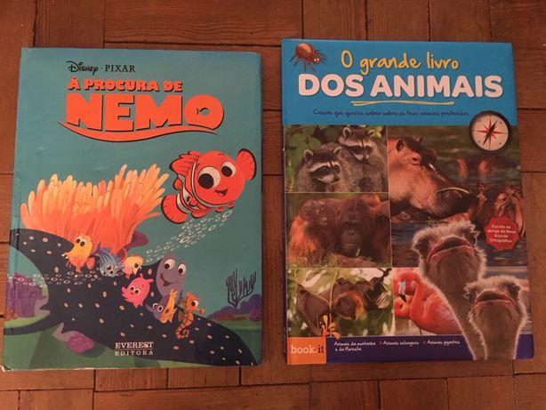 """Livros infantis """"Nemo"""" e """"animais"""""""