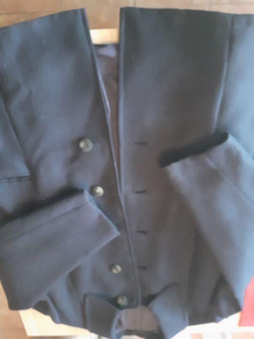 Kostium wełniany kolor głęboki granat, dla starszej Pani Lipowa - image 1
