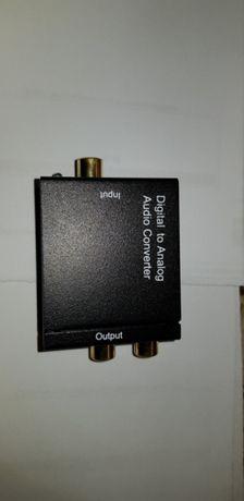 Konwerter audio (optyczny) toslink/rca out.