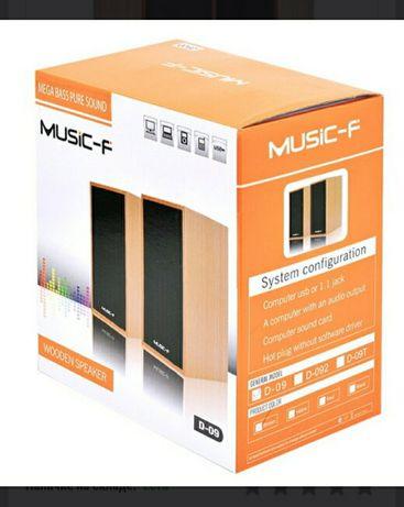 Компьютерные колонки Music-F D-092 Red Wood со скидкой 33 % .