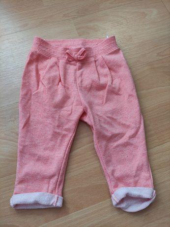 Spodnie różowe r.74
