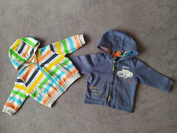 Bluza chłopięca, rozpinana Cool Club i F&F, r. 74