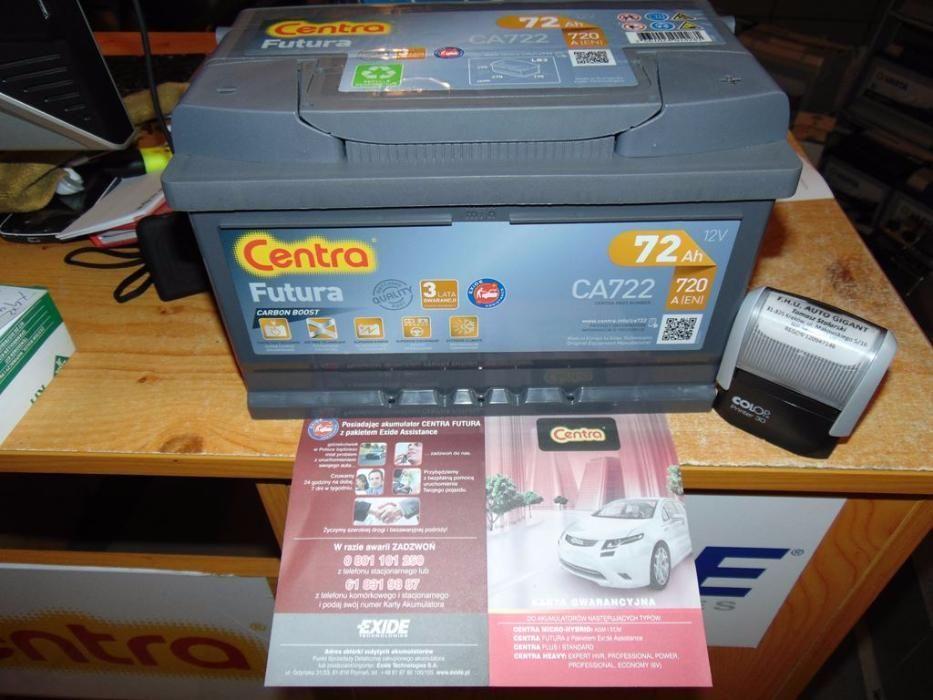 Akumulator Centra Futura CA722 72Ah 720A P+ Kraków EA722