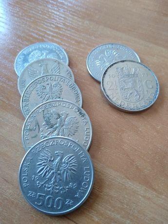 Zestaw monet PRL + 2/12 guldena 1971 mn