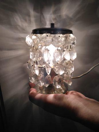 Lampki nocne z krslyształkami dwie sztuki