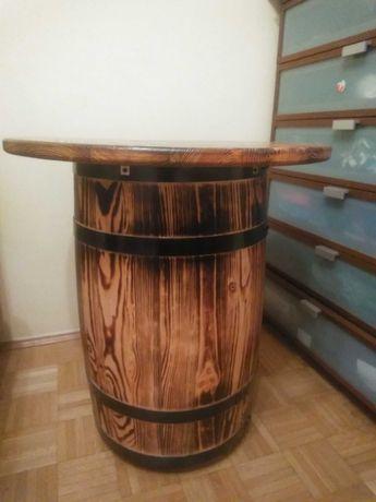 Stolik z beczki lakierowany