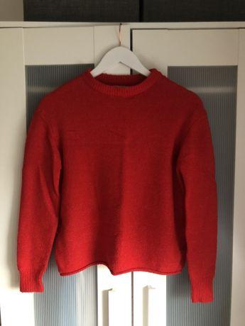 Czerwony sweter PULL&BEAR XS