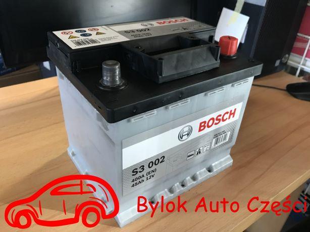 """AKUMULATOR 45AH/400A """"Bosch"""" NOWY!!! Bylok Auto Części Gliwice Zabrze"""