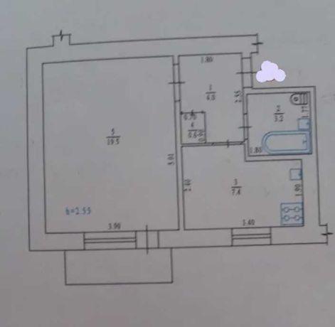 Однокімнатна квартира покращеного планування!