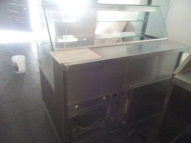 Balcão Aço Inox de 4500 x 800 x 1160 mm