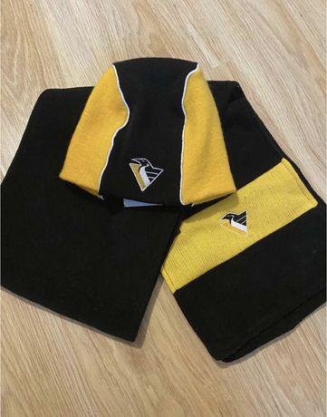 Шапка и шарф NHL Pittsburgh Penguins хоккей новые