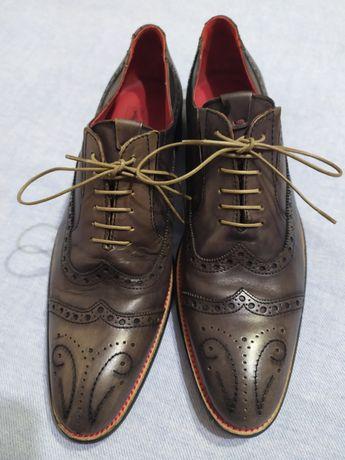 Туфли кожаные Koil туфлі броги