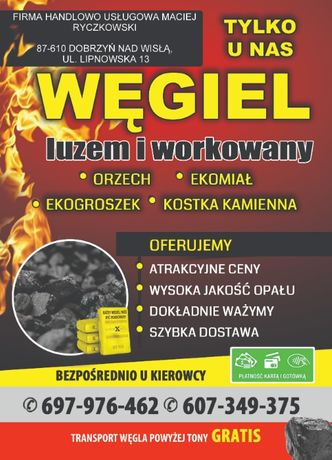 Węgiel ekomiał PROMOCJA 520 zł aktualna cena taka jak w ogłoszeniu